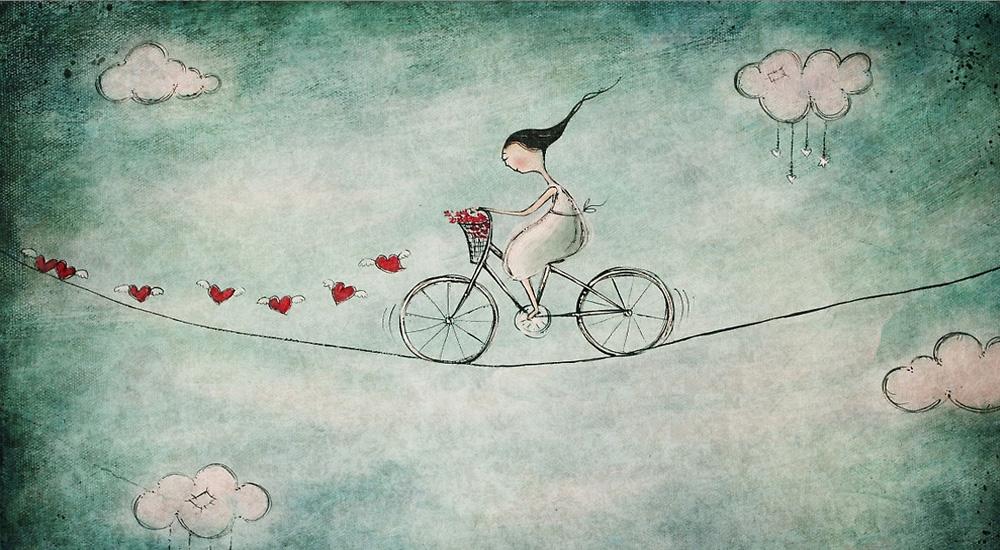 bicicletta sul filo