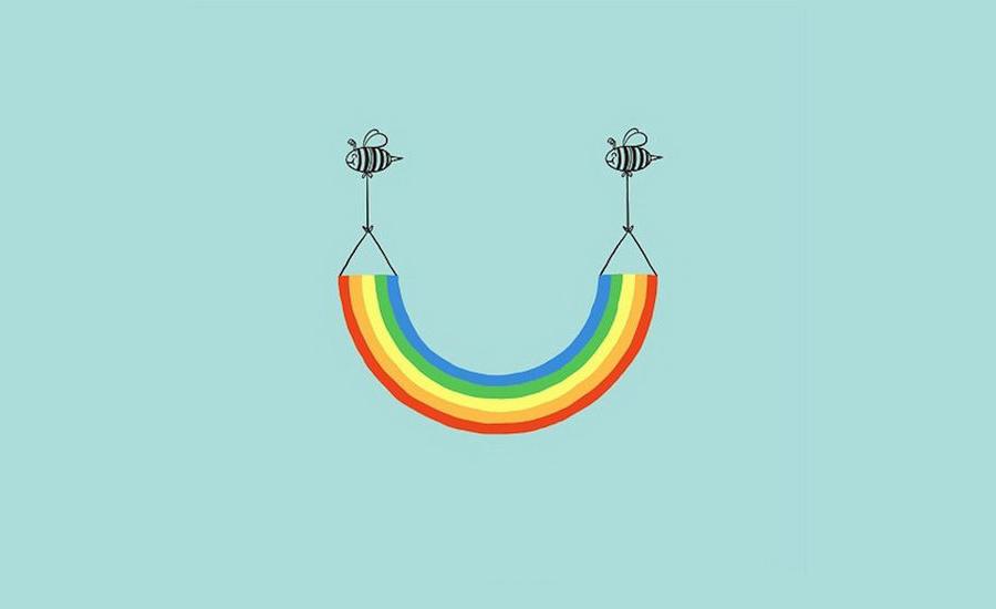 sorriso arcobaleno