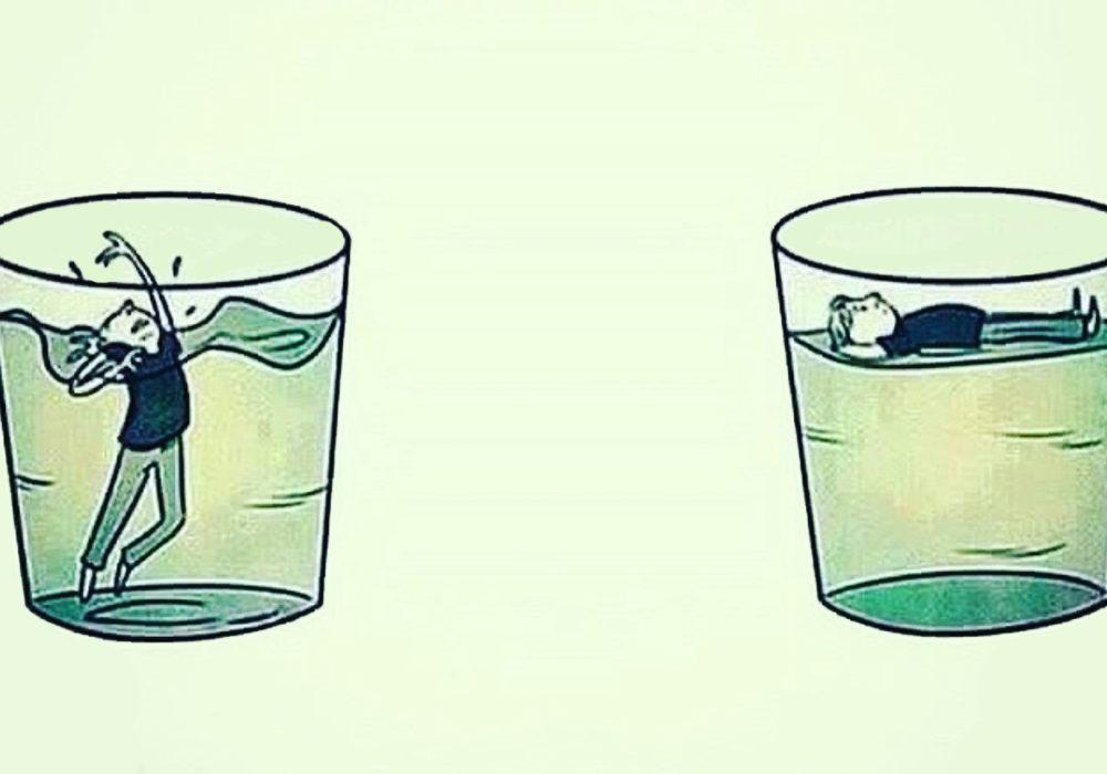 Pensiero catastrofico: fare una tempesta in un bicchiere d'acqua – e annegarci